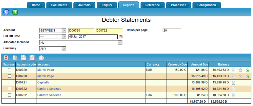Debtor Statement Excel