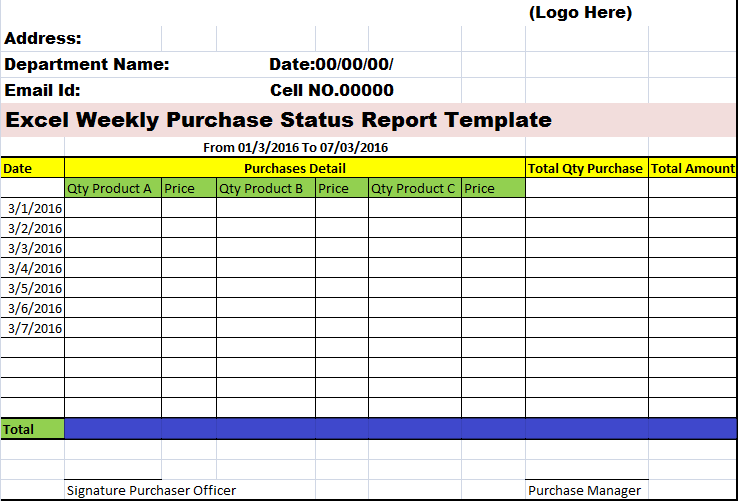 stock order Template Excel