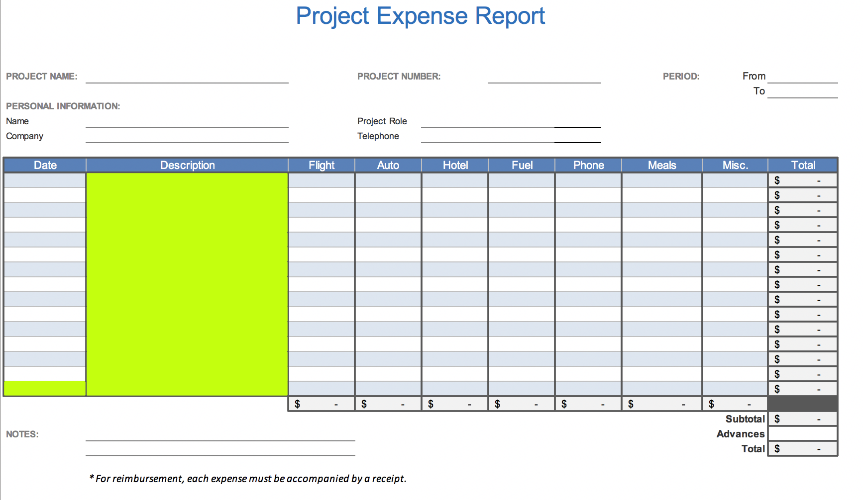 project-expense