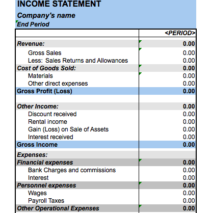 Financial Statement tool